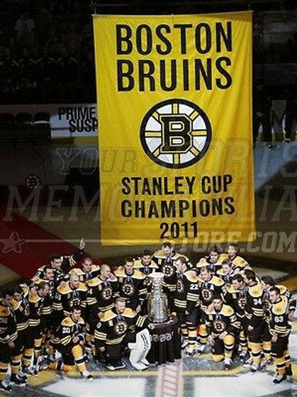 Boston Bruins 2011 Stanley Cup banner night celebration  8x10 11x14 16x20 1805