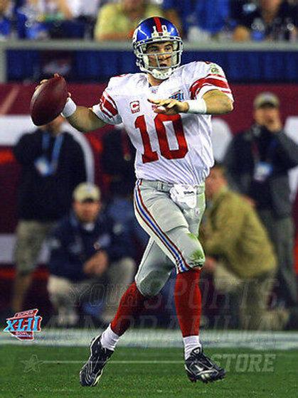 2007 Super Bowl Giants Eli Manning passing MVP 8x10 11x14 16x20  photo 335