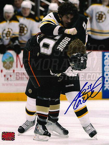 Adam McQuaid Boston Bruins signed 12x18 fighting photo