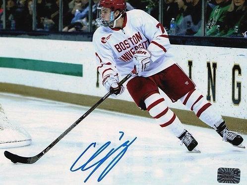 Charlie McAvoy Boston Bruins Signed autographed Boston University 8x10 HB