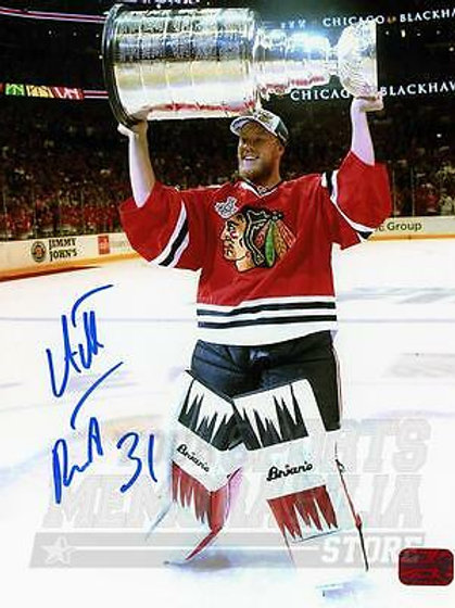 Antti Raanta Chicago Blackhawks Signed Autographed Stanley Cup 8x10 Rangers