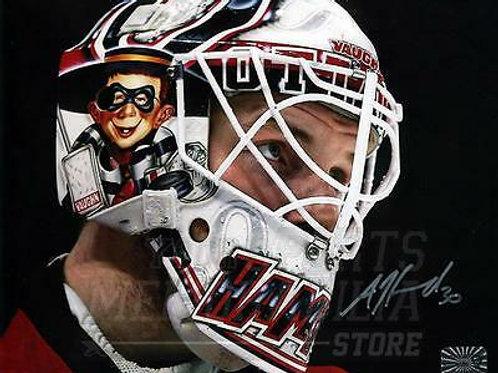 Andrew Hammond Ottawa Senators Signed Autographed Up Close Mask 8x10