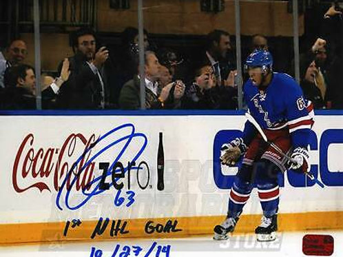 Anthony Duclair New York Rangers Signed Autographed 1st NHL Goal Inscribed 8x10