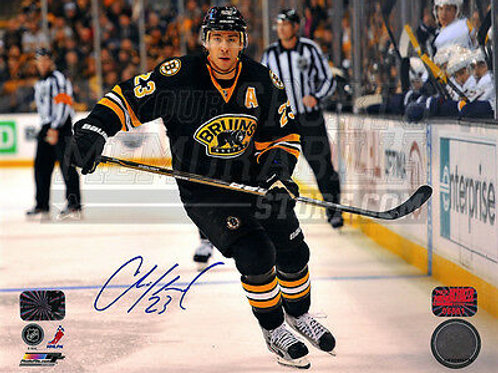 Chris Kelly Boston Bruins Signed Autographed Action Alternate Jersey 8x10