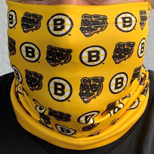 Boston Bruins Retro Logos Neck Gaiter Face Mask