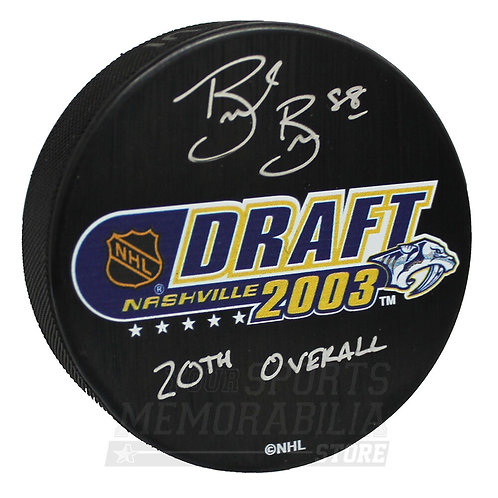 Brent Burns San Jose Sharks Signed Autographed 20th Overall 2003 NHL Draft Puck