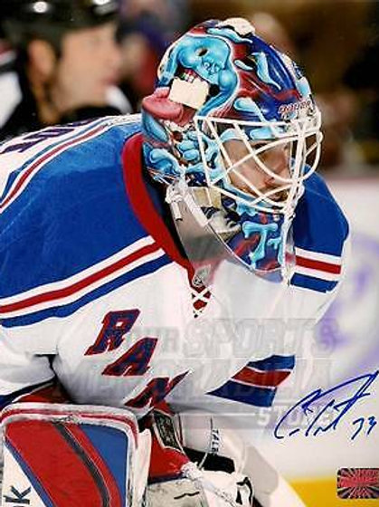 Cam Talbot New York Rangers Signed Autographed Up Close Action 8x10