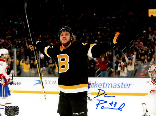 David Pastrnak Boston Bruins Signed Autographed Alternate Arms Out 8x10