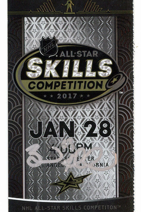 Brad Marchand Boston Bruins Signed Autographed 2017 NHL All-Star Skills Ticket S