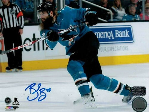 Brent Burns San Jose Sharks Signed Home Action 8x10 W/ Burns Authentic COA