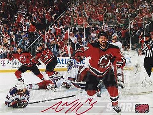Adam Henrique New Jersey Devils Signed Autographed Goal Celebration 8x10 R