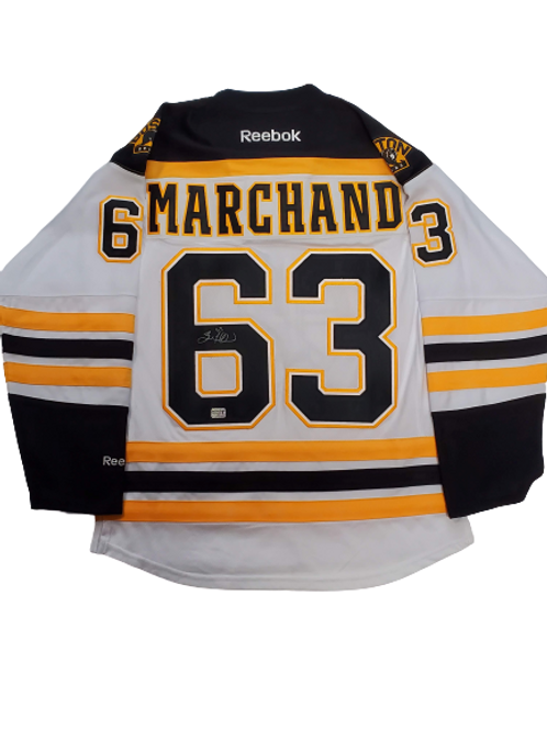 Brad Marchand Boston Bruins signed Stanley Cup Finals patch jersey