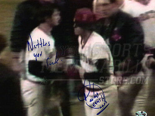 "Bill Lee Boston Red Sox  Yankees ""Nettles U Suck"" signed 8x10"