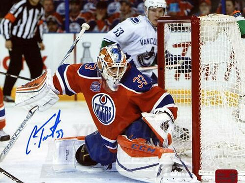 Cam Talbot Edmonton Oilers Signed Autographed Action Rexall Place 8x10