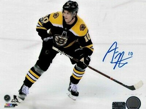 Anders Bjork Boston Bruins Signed Autographed Home Skate 8x10