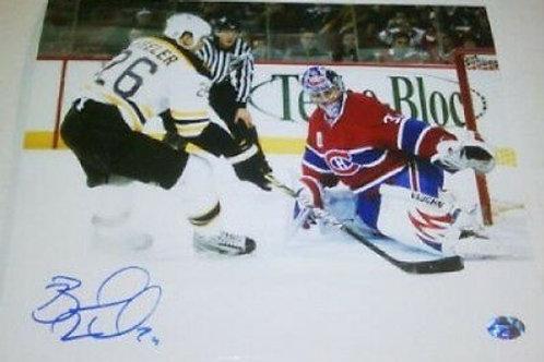 Blake Wheeler Bruins signed 8x10 Winnipeg Jets C