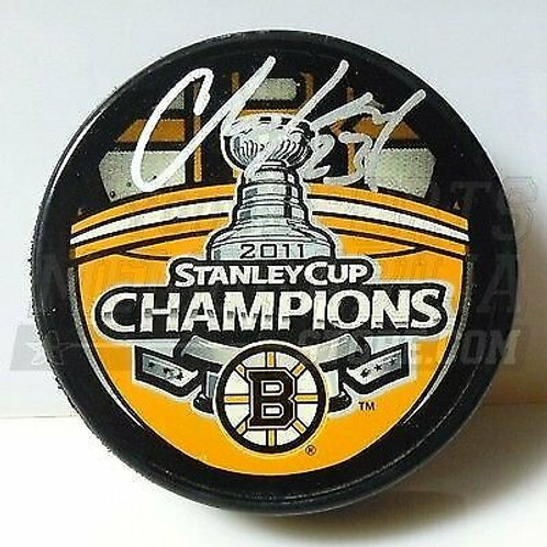 Chris Kelly Boston Bruins Signed Stanley Cup Champions Puck