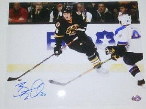 Blake Wheeler Winnipeg Jets signed  8x10 Bruins E