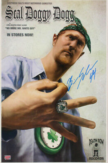 Brian Scalabrine Boston Celtics Signed Autographed Scal Doggy Dogg 16x25 Poster