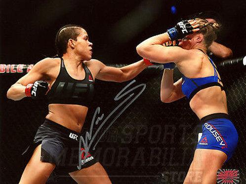 Amanda Nunes Signed Autographed MMA UFC Champion Fight vs Ronda Rousey 8x10