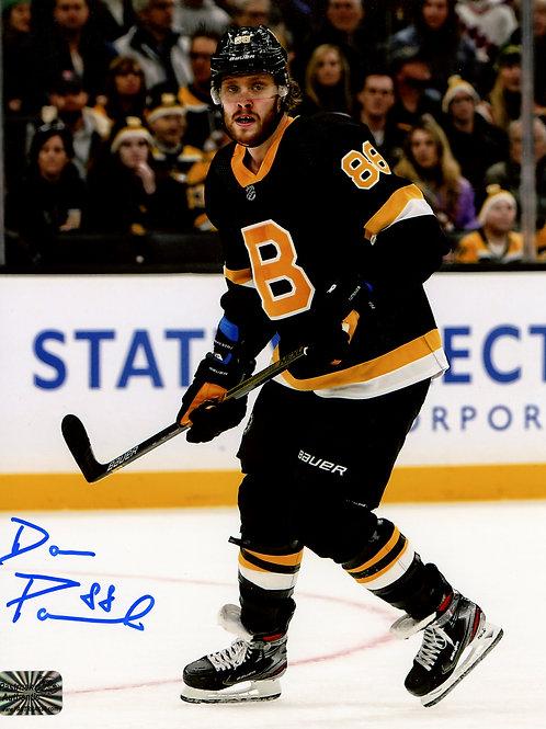 David Pastrnak Boston Bruins Signed Autographed Alternate Skate 8x10