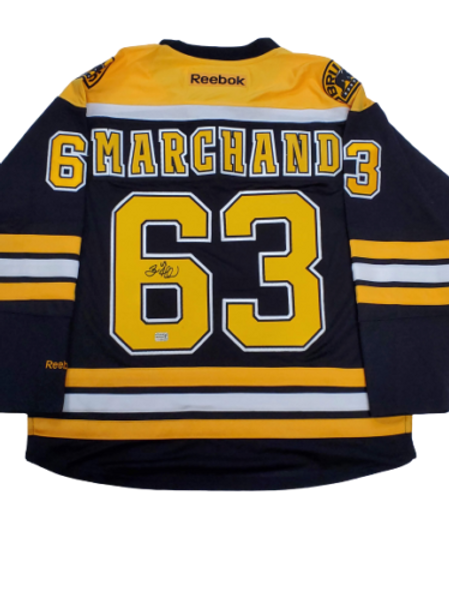Brad Marchand Boston Bruins signed Stanley Cup Finals authentic jersey