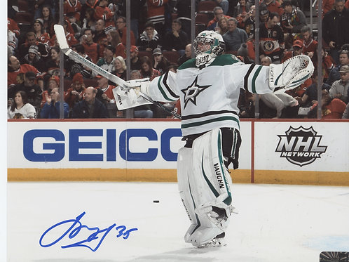 Anton Khudobin Dallas Stars signed 16x20 Arms Out