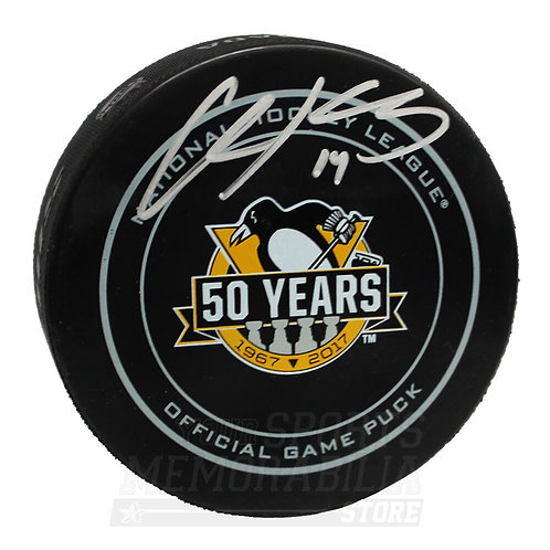 Chris Kunitz Pittsburgh Penguins Signed Autographed 50th Anniversary Game Puck
