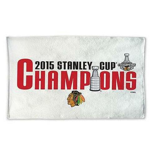 "Chicago Blackhawks 2015 Stanley Cup Champions Locker Room Beach Towel 28"" x 42"""