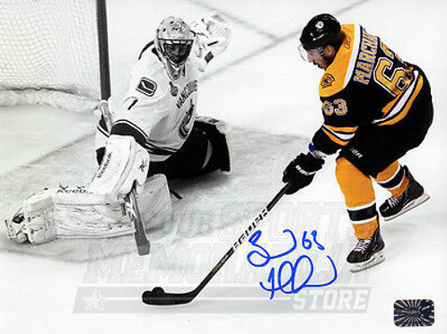 Brad Marchand Boston Bruins Signed Autographed Spotlight Finals Luongo 16x20