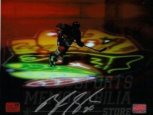 Brandon Saad Chicago Blackhawks signed autographed logo silouette 8x10 Photo NPF