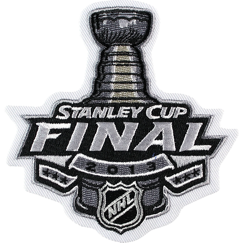 2013 Official NHL Stanley Cup Final Logo Patch Chicago Blackhawks Boston Bruins