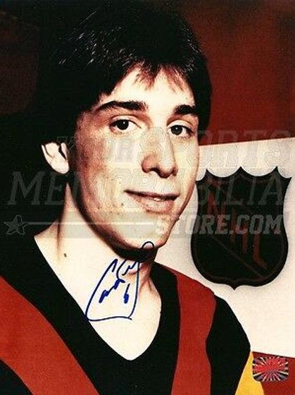 Cam Neely Vancouver Canucks Signed Autograph Rookie Portrait 8x10 Boston Bruins