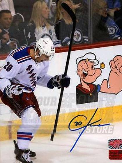 Chris Kreider New York Rangers Signed Autographe?d Scream Celebration 8x10