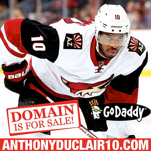 ANTHONY DUCLAIR 10 .COM - Arizona Coyotes - Hockey NHL - Domain Name - GoDaddy