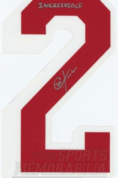 Chris Kreider New York Rangers Signed Autographed Inkreidible Jersey Number
