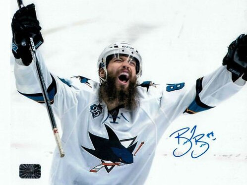 Brent Burns San Jose Sharks Signed Away Celebration 8x10 W/ Burns Authentic COA