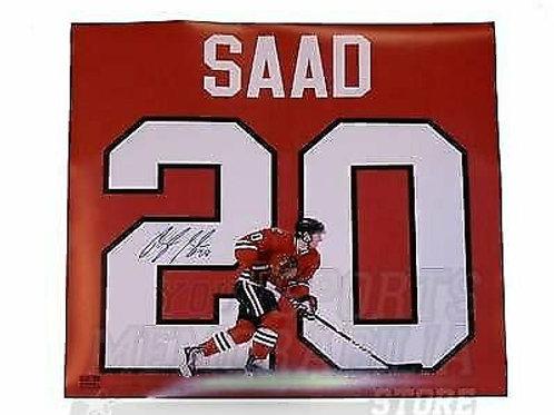 Brandon Saad Chicago Blackhawks Signed Autographed Jersey Name Display 18x18