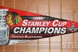 Brandon Saad Chicago Blackhawks signed autographed Stanley cup champions pennant