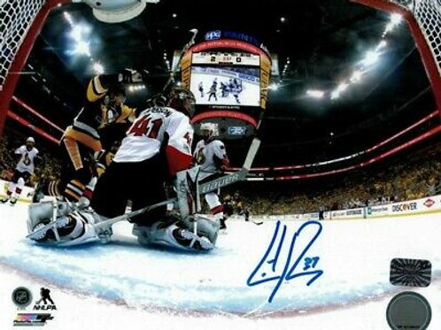 Carter Rowney Pittsburgh Penguins Signed Autographed Netcam 8x10