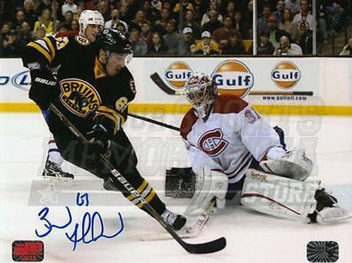Brad Marchand Boston Bruins Signed Autographed Home Action vs Canadiens 8x10