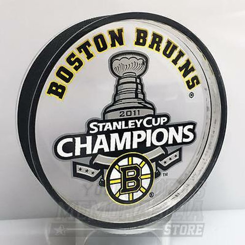Boston Bruins 2011 Stanley Cup Champions Acrylic Puck