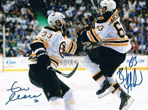 Brad Marchand Zdeno Chara Boston Bruins signed Stanley Cup Finals 8x10