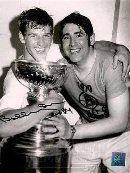 Bobby Orr Boston Bruins signed autographed Stanley Cup w/ Frosty Forestall 8x10