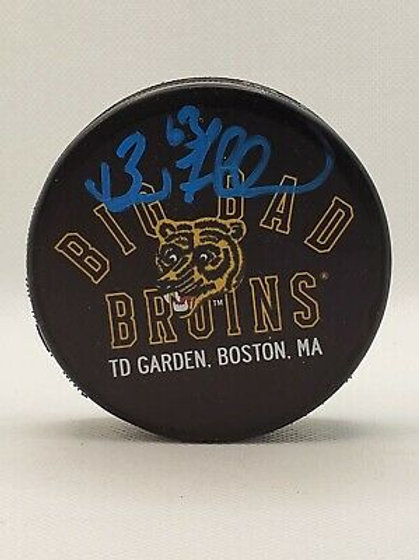 Brad Marchand Boston Bruins signed Big Bad Bruins Puck Limited Edition