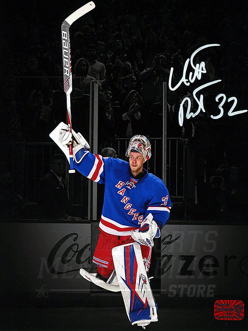Antti Raanta New York Rangers Signed Autographed Celebration Spotlight 8x10