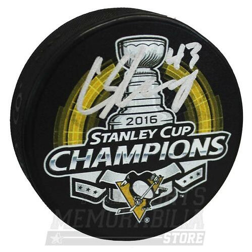 Conor Sheary Pittsburgh Penguins Signed Autographed Stanley Cup Champs Puck
