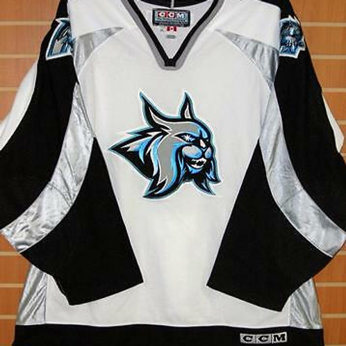 Augusta Lynx ECHL CCM Authentic On Ice Game Issued White Hockey Jersey 58