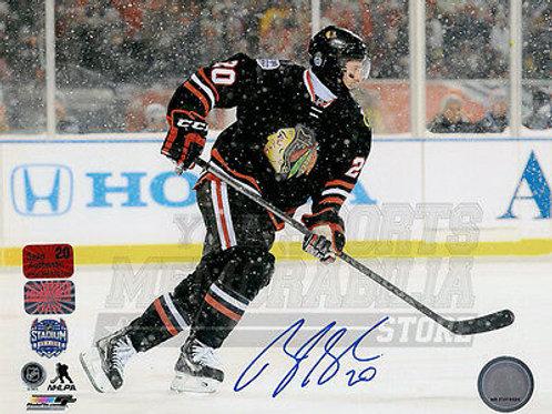 Brandon Saad Chicago Blackhawks Signed Autographed NHL Stadium Series 8x10