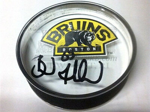 Brad Marchand Boston Bruins signed acrylic 3rd puck